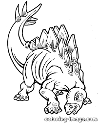 stegosaurus dinosaur free coloring pages for kids