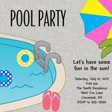 pool swim party invitation summer party invitation ajinvites on