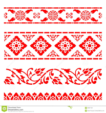 traditional design line border pattern asian traditional art design vector thai