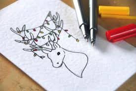 to draw how a tree art for kids hub how christmas card drawing