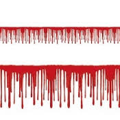 bloody drips border gory psycho zombie halloween party horror prop