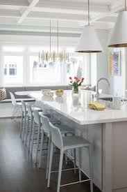 Gray And White Kitchen Cabinets White Cabinets White Gray Glass Backsplash White Quartz