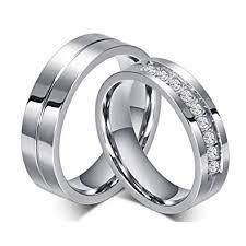 wedding rings couple images Rowag 6mm men titanium stainless steel promise jpg