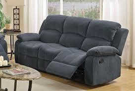 Reclining Fabric Sofa Broy Blue Grey Fabric Reclining Sofa