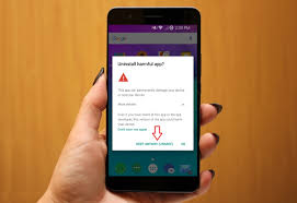 uninstall app android how to fix uninstall harmful app error notification message in