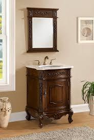 Antique Vanity Mirror Adelina 24 Inch Antique Bathroom Vanity Cabinet White Marble