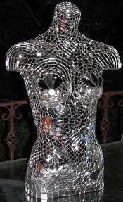 art glass hand ring holder images Mirror mosaic torso finished mosaics with mirrors jpg
