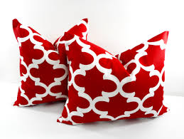 pillow covers for sofa red moroccan pillow cover red and white twistedbobbin