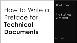how to write a preface for technical documents