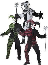 deluxe mens evil jester costume halloween fancy dress scary killer