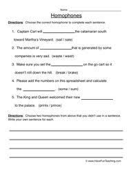 snapshot image of homophone worksheets 1 and 2 stuff