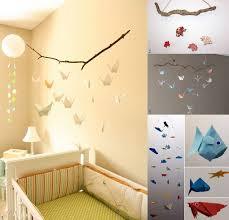 mobile chambre enfant l origami chambre bébé quand le pliage se la joue déco idées