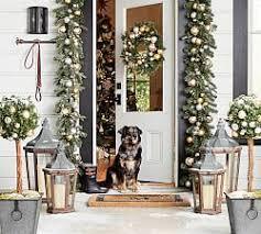 lighted christmas tree garland christmas wreaths garlands trees pottery barn