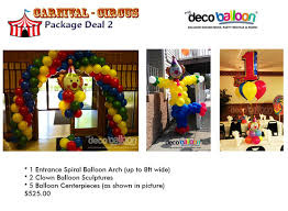 circus balloon decoration party favors ideas