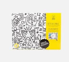 coloring placemats placemat coloring pages keith haring