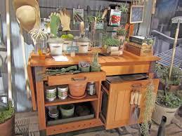 potting bench decorating ideas features hardwood table top and amusing potting bench design with sink ideas potting bench decorating ideas featuring hardwood