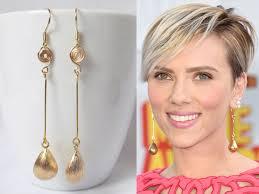 dangly earring drop earrings gold dangle earring johansson