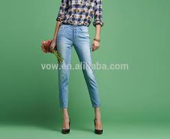 alibaba jeans newest style female narrow bottom jeans pants funky china ladies