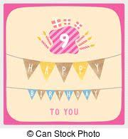 stock illustrations of happy 9th birthday happy birthday with