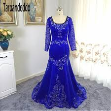 square neckline royal blue embroider lace wedding dress mermaid