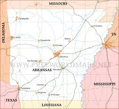 us map with arkansas arkansas maps