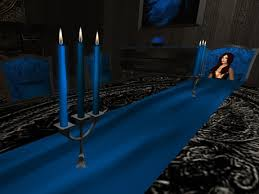 Gothic Dining Room Furniture Second Life Marketplace Gothic Dining Room Set In Blue Gothic
