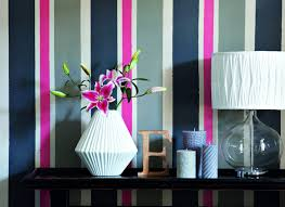 Striped Bedroom Wall by