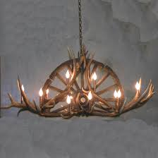 decor redoubtable deer horn chandelier with alluring antler