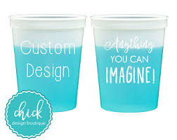 chagne wedding favors color changing cups etsy