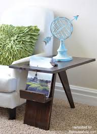 Aqua Side Table Remodelaholic Build A Diy Mid Century Modern Side Table And