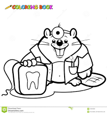 coloring page dental hygiene vector set stock vector image 63022247