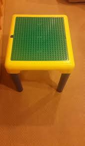 duplo table with storage duplo table storage tubes legs big huge plate building apart