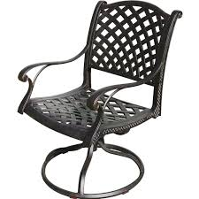 Cast Aluminum Patio Chairs Darlee Nassau Cast Aluminum Patio Swivel Rocker Dining Chair