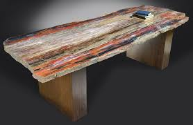 Petrified Wood Bench L W Table 104x40 Petrified Wood Furniture Russell Zuhl