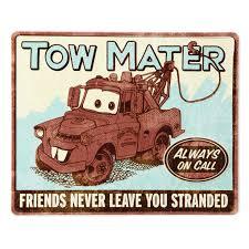 Disney Cars Home Decor Disney Pixar Cars Mater Tin Sign Framed Art U0026 Prints Hallmark