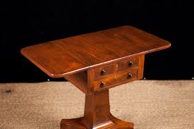 vintage pedestal side table antique american empire side table with pedestal base in mahogany c