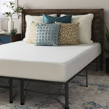 crown comfort 8 inch queen size bed frame and memory foam mattress