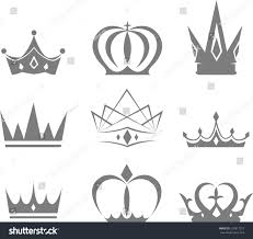 set different styles crowns vector designs stock vector 227817757