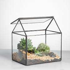 amazon com handmade house shape close glass geometric terrariumn