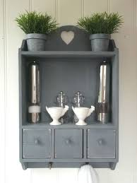 Blue Shabby Chic Kitchen by Shabby Chic Wall Unit Shelf Storage Cupboard Cabinet Kitchen