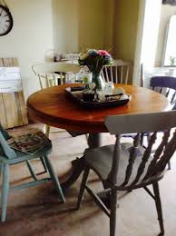 french style pedestal extendable solid vintage pine dining table