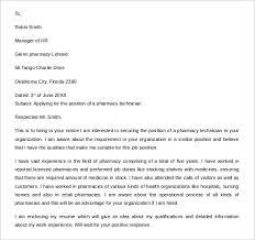 sample pharmacy technician letter cover letter example pharmacist