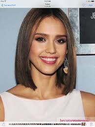 trangole face medium lenght the latest haircut one length above the shoulders one length pinterest