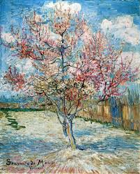 peach trees in blossom 2 vincent van gogh wallpaper image