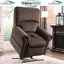 amazon com therapedic lift chair recliner with carbon fiber heat