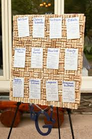 wedding table assignment board seating chart pinned on wine cork board 9 29 12 pinterest