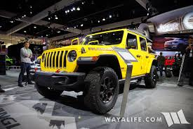 yellow jeep 2017 la auto show u2013 yellow jeep jl wrangler rubicon unlimited