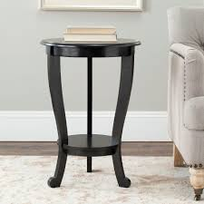 Black Pedestal Table Safavieh Mary Distressed Black Side Table Amh5711b The Home Depot