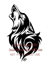 wolf indian tattoos designs howling wolf tribal by insaneroman deviantart com on deviantart