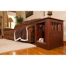 solid oak fortress end table pet crate
